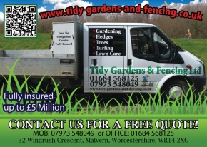 Tidy Gardens and Fencing Malvern flyer