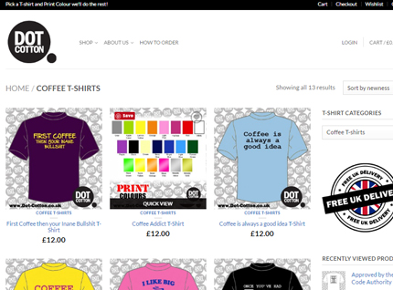 Dot Cotton E-commerce Website