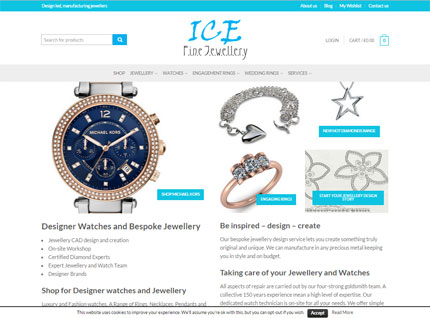 Jewellery Shop Web Design Screenshot
