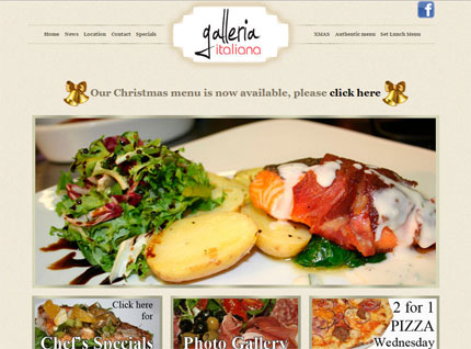 Worcester Restaurant Website Screenshot