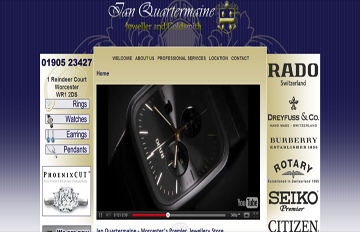 screen shot of the Ian Quartermaine website